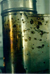 Конденсат разрушает трубу дымохода