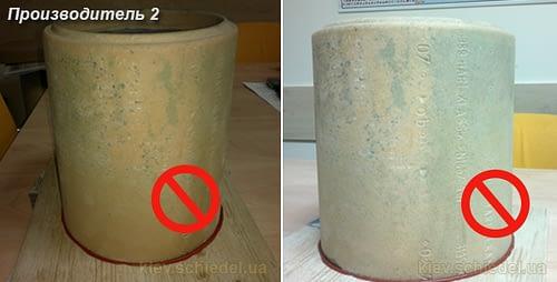 Производитель №2. Результат - полное пропитывание стенки керамической трубы.